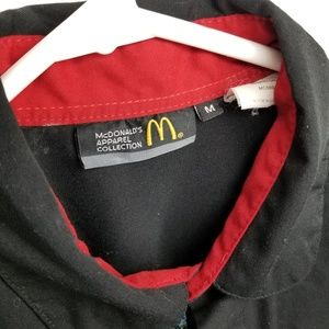mc donalds Shirts - Mc Donalds uniform black botton up shirt size M